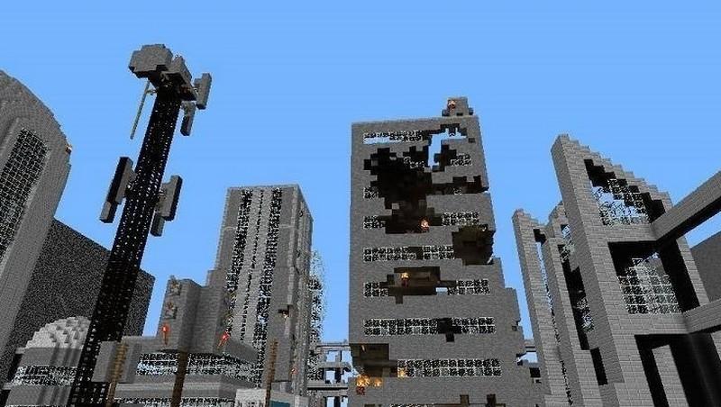 cкачать карту для майнкрафт 183 сомби город #5