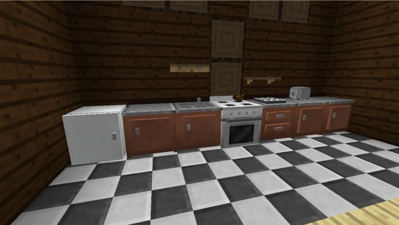 Моды кухня.зал туалет комната в майнкрафт